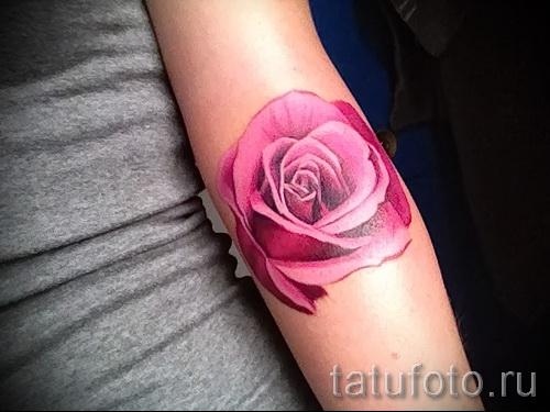 тату розы на руке - фото вариант от 15122015 № 24