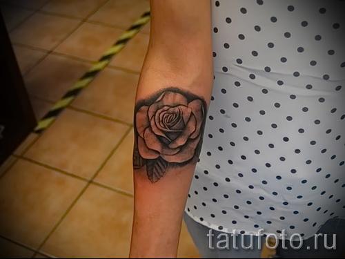 тату розы на руке - фото вариант от 15122015 № 25