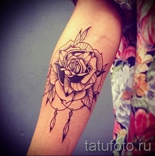тату розы на руке - фото вариант от 15122015 № 6
