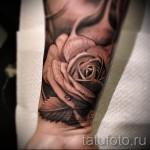 тату розы на руке - фото вариант от 15122015 № 8