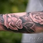тату розы на руке - фото вариант от 15122015 № 9
