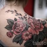тату розы на спине - фото вариант от 15122015 № 13
