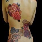 тату розы на спине - фото вариант от 15122015 № 6