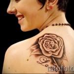 тату розы на спине - фото вариант от 15122015 № 7