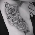 тату розы черно белые - фото вариант от 15122015 № 3