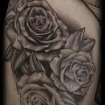 тату розы черно белые - фото вариант от 15122015 № 4