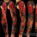 тату рукав розы - фото вариант от 15122015 № 8