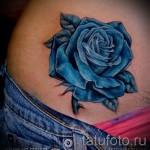 тату синие розы - фото вариант от 15122015 № 1