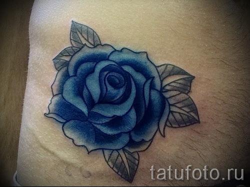 тату синие розы - фото вариант от 15122015 № 15