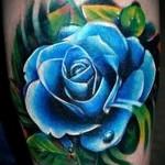 тату синие розы - фото вариант от 15122015 № 2
