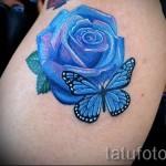 тату синие розы - фото вариант от 15122015 № 5