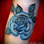 тату синие розы - фото вариант от 15122015 № 6