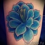 тату синие цветы - фото вариант от 21122015 № 2