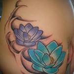 тату цветок лотоса фото - фото вариант от 21122015 № 3