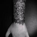 тату цветок мандала - фото классной татуировки от 21122015 № 2