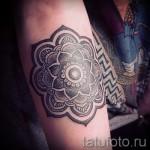 тату цветок мандала - фото классной татуировки от 21122015 № 6