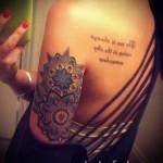 тату цветок мандала - фото классной татуировки от 21122015 № 7