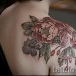 тату цветок папоротника - фото вариант от 21122015 № 6