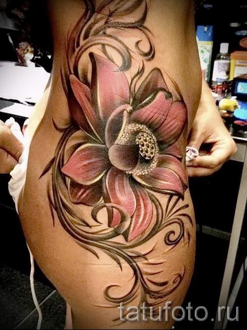 тату цветы большие - фото классной татуировки от 21122015 № 2