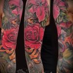 тату цветы большие - фото классной татуировки от 21122015 № 4