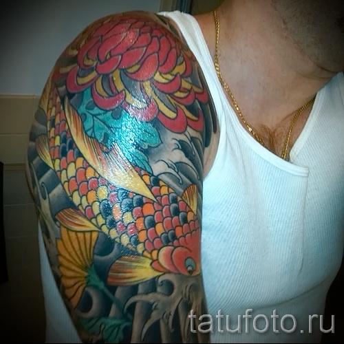 тату цветы для мужчин - фото классной татуировки от 21122015 № 1