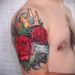 тату цветы для мужчин - фото классной татуировки от 21122015 № 2