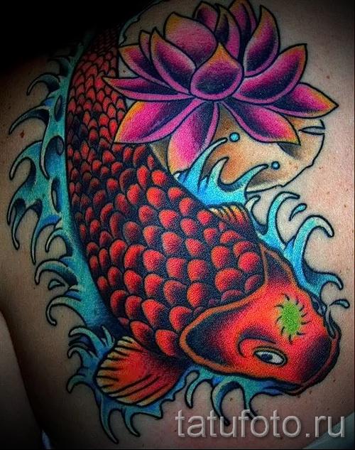 тату цветы для мужчин - фото классной татуировки от 21122015 № 3