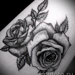 тату цветы дотворк - фото вариант от 21122015 № 3