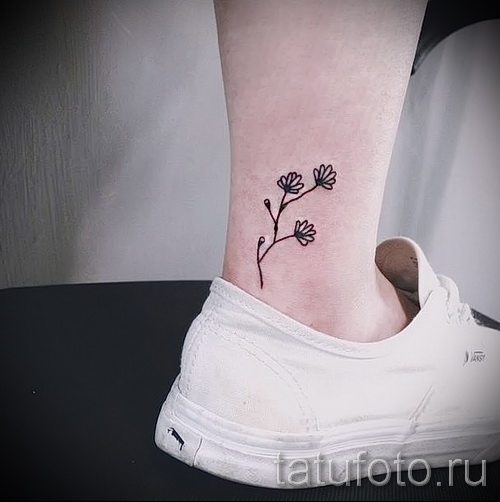 тату цветы минимализм - фото вариант от 21122015 № 2