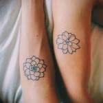 тату цветы минимализм - фото вариант от 21122015 № 4