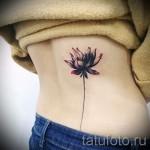 тату цветы минимализм - фото вариант от 21122015 № 5