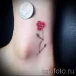 тату цветы минимализм - фото вариант от 21122015 № 7