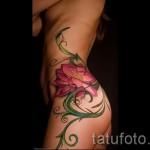 тату цветы на боку у девушек фото - фото вариант от 21122015 № 5