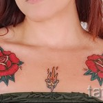 тату цветы на груди - фото вариант от 21122015 № 6