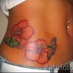 тату цветы на животе - фото вариант от 21122015 № 4