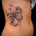 тату цветы на животе - фото вариант от 21122015 № 8