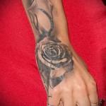 тату цветы на запястье - фото вариант от 21122015 № 1