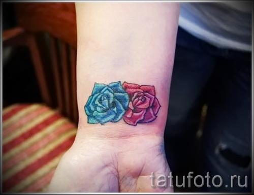 тату цветы на запястье - фото вариант от 21122015 № 4