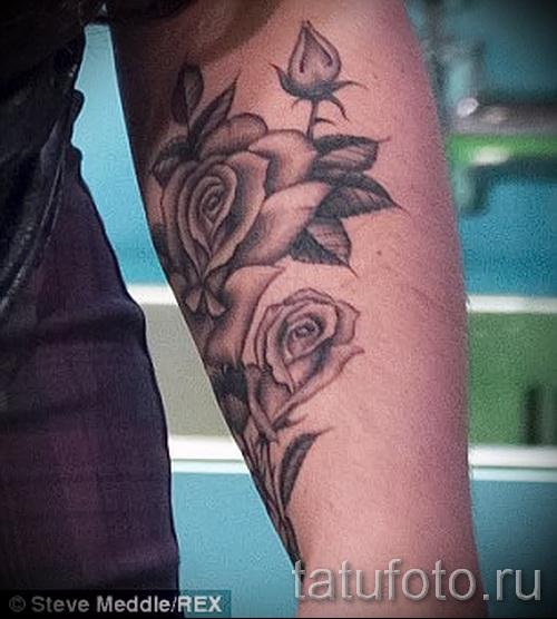 тату цветы на запястье - фото вариант от 21122015 № 7