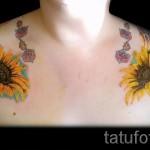 тату цветы на ключице - фото вариант от 21122015 № 9