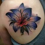 тату цветы на лопатке - фото вариант от 21122015 № 7
