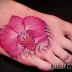 тату цветы на ноге - фото вариант от 21122015 № 5