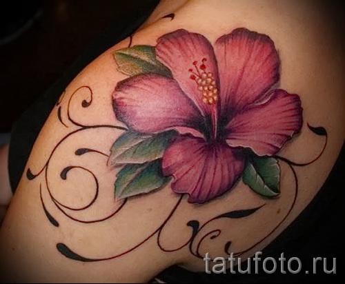 тату цветы на плече - фото вариант от 21122015 № 2