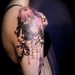 тату цветы на плече - фото вариант от 21122015 № 6