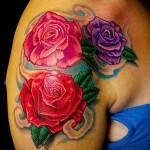 тату цветы на плече - фото вариант от 21122015 № 9