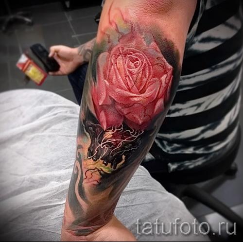тату цветы на предплечье - фото вариант от 21122015 № 10