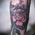 тату цветы на предплечье - фото вариант от 21122015 № 3