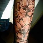 тату цветы на предплечье - фото вариант от 21122015 № 7