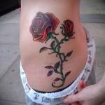 тату цветы на ребрах - фото вариант от 21122015 № 1