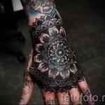 тату цветы на руке для девушек - фото вариант от 21122015 № 2